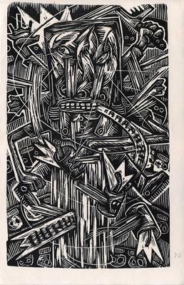 Linogravure de Pakito Bolino