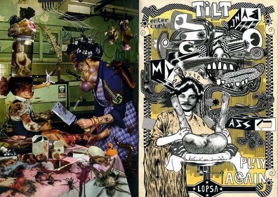 Double page de Fredox et Yann Francescangeli parue dans Bang Your Head