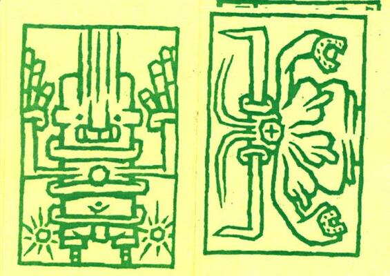 Double page extraite de Boîte à Gants, de Lezard-Fou, collection Microbes