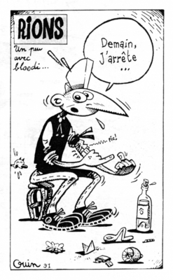 Illustration de Pierre Ouin extraite de Chacal Puant n°5