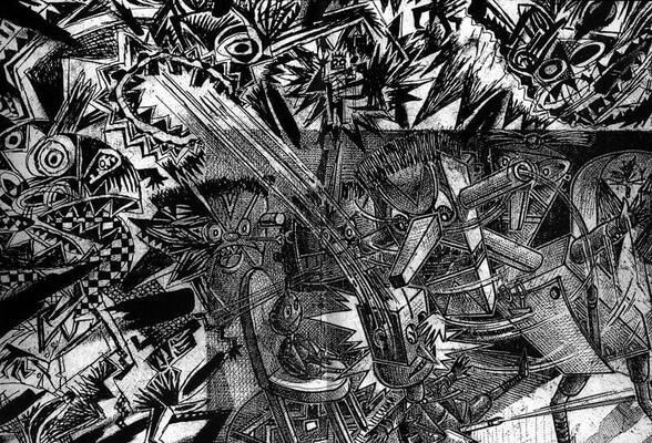 Dessin à quatre mains - Bruno Richard / Pascal Doury - 1983