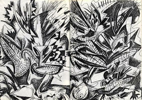 Double page de Bruno Richard extraite de Kunstgestapo Macht Frei