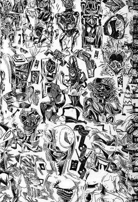 Illustration de Bruno Richard extraite de Human Sexy Maladi, éd Psychedelic Pigs, 1997.