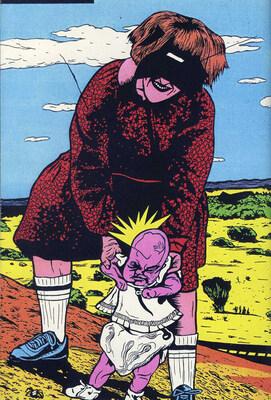 Illustration de Pierre La Police extraite de La boîte de punaises la boîte d'épingles, 1992