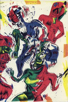 Illustration de Bruno Richard extraite de La boîte de punaises la boîte d'épingles, 1992