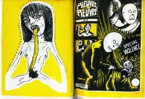 Détail de la pochette du graphzine La Pieuvre n°4