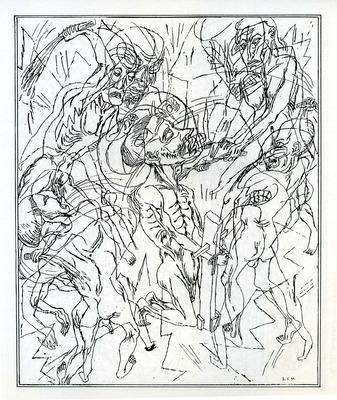 Illustration de Bruno Richard extraite de La pitié du cruel, 1996
