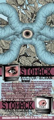 Flyer accompagnant la sortie de Stomack #9, éd. Ruin Comix