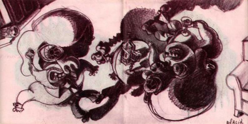 Illustration de Placid extraite de Tête Bêche, 1990