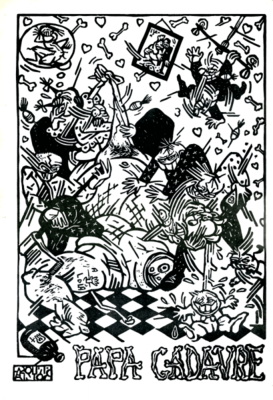 Linogravure de Pakito Bolino publiée dans Votre Ami