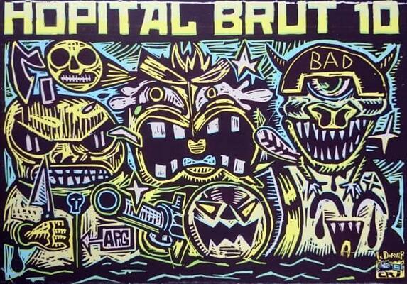 Dos de couverture d'Hôpital Brut n°10 par Pakito Bolino
