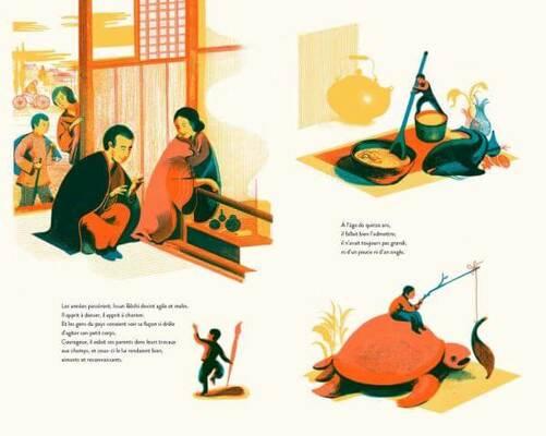 Double page extraite de Issun Bôshi, d'Icinori