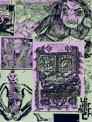 Couverture du cahier n° 1 du Dernier Cri n° 10, éd. Le dernier cri, 1995.
