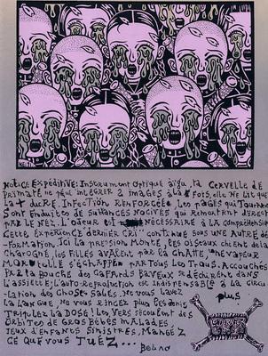 Couverture du cahier n° 2 du Dernier Cri n° 10, éd. Le dernier cri, 1995.