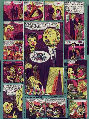Couverture du cahier n° 4 du Dernier Cri n° 10, éd. Le dernier cri, 1995.
