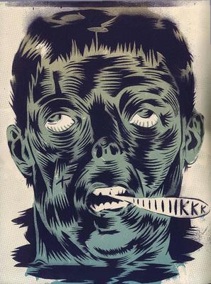 Illustration de Blexbolex extraite du Dernier Cri n° 10, éd. Le dernier cri, 1995.