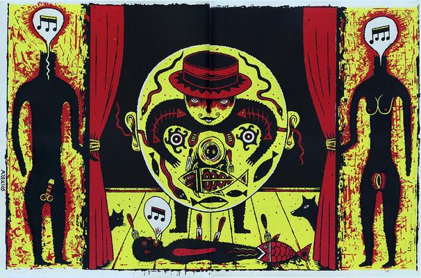 Illustration de Alexios Tjoyas extraite du Dernier Cri n° 10, éd. Le dernier cri, 1995.