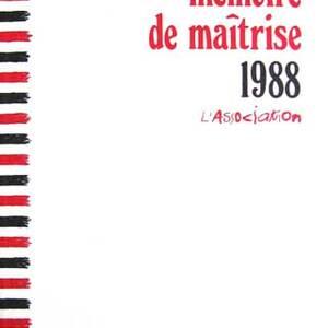 Mémoire de Maîtrise 1988