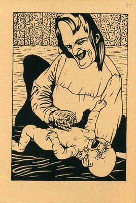 Illustration de Pierre La Police extraite de Mini Pim Poum