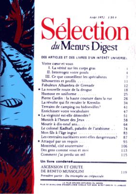 Sélection du Menu's Digest - Jean-Christophe Menu