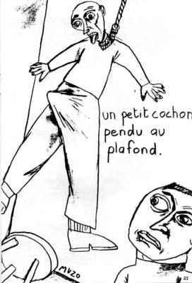 Illustration de Muzo extraite de Séduction n° 3, 1986.
