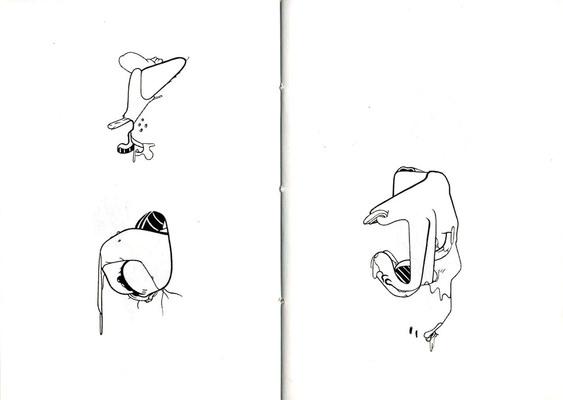 Double page de The Pit extraite de Squirts, éd. La belle époque - 2014