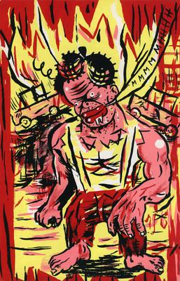 Illustration de Blexbolex extraite de Steacknife #2, éditions Chacal Puant, 1997