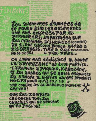 Dos de couverture de The Jim Bones Adventures d'Y5/P5