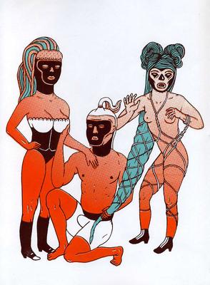 Illustration de Delphine Chauvet extraite de Tignasse Parade, éd. Méconium - 2016.