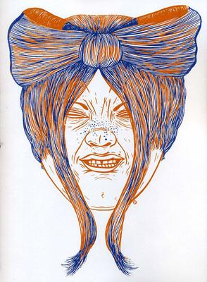 Illustration de Céline Guichard extraite de Tignasse Parade, éd. Méconium - 2016.