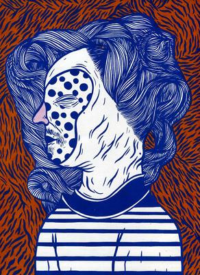 Couverture de Céline Guichard pour Tignasse Parade, éd. Méconium - 2016.