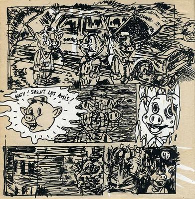 Page extraite de XXX, Blexbolex, auto-édition, 1992.