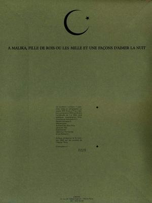 Intérieur de la pochette du portfolio Chic ou voyou, de Benito, éd. L'Atelier, 1983.
