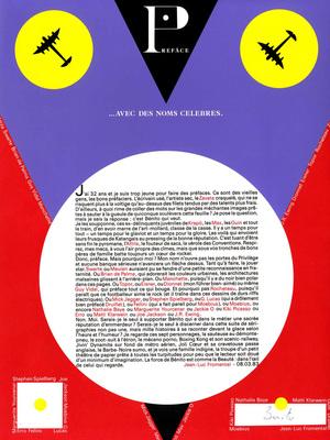 Page de garde du portfolio Chic ou voyou, de Benito, éd. L'Atelier, 1983.