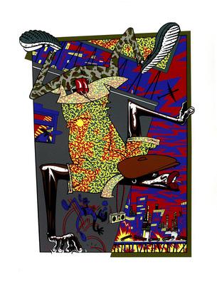Illustration de Benito extraite du portfolio Chic ou voyou, éd. L'Atelier, 1983.