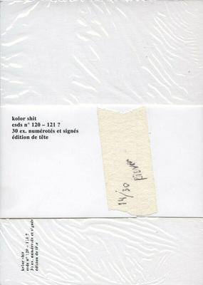 Verso de Kolor shit, set de cartes postales de Bruno Richard, éd. Elica, 2020