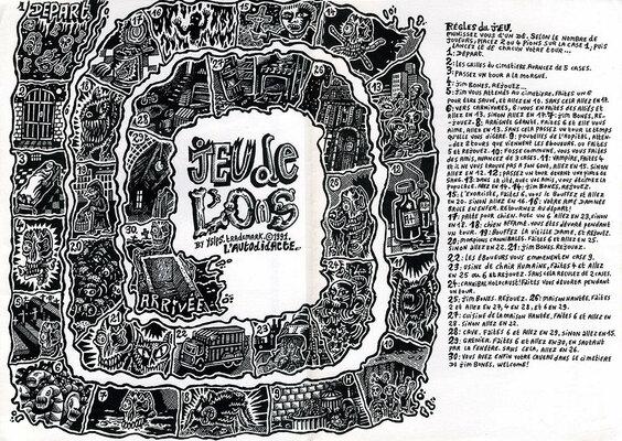 Jeu de l'oie par Y5/P5, éd. L'Autodidacte 1991