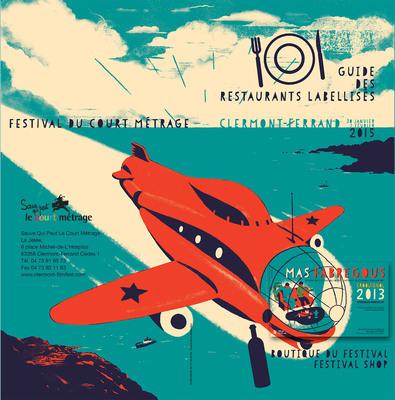 Visuel de Blexbolex pour l'édition 2015 du Festival du court de Clermont-Ferrand