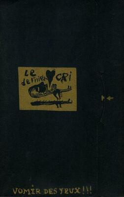 Pochette renfermant 3 flip-book, accompagnant la VHS Vomir des Yeux